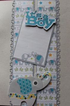 Its a Boy Stack Pack and Stickers. The Star punch is a Fiskars border punch. Title from Silhouette Scrapbook Borders, Scrapbook Titles, Scrapbook Embellishments, Scrapbooking Layouts, Diy Mini Album, Mini Albums, Baby Boy Scrapbook, Creative Memories, Scrapbooks