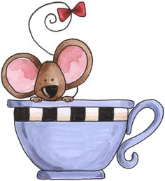 mouse in teacup