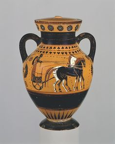 Terracotta amphora (jar) Signed by Andokides as potter Period: Archaic Date: ca. 540 B.C. Culture: Greek, Attic This is the earliest preserved vase with the signature of the potter Andokides.