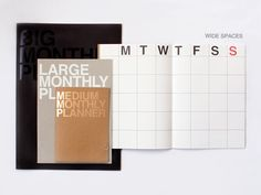 Large Monthly Planner Notebook  mochithings.com
