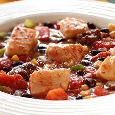 Spicy Alaska Halibut Stew