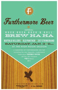 Furthermore event poster // wood grain // vintage inspired graphic