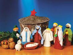 Felt Yurt Nativity Set