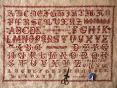 Red work sampler