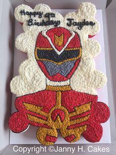 Power ranger cupcake cake www.facebook.com/jannyh.cakes
