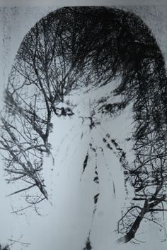 Double Exposure in darkroom from a digital print using Acetate and Photocopied image.
