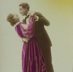 French Vintage New Year's Postcard - Couple Dancing by ChicEtChoc on Etsy