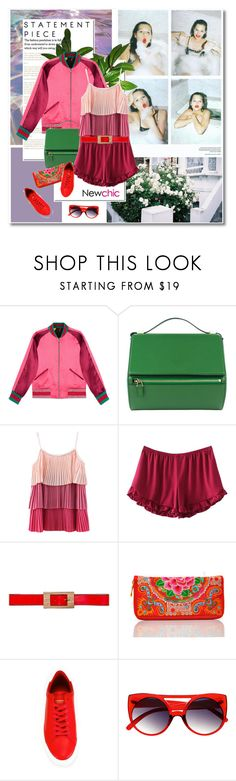 """#bomberjackets - Newchic#15"" by undici ❤ liked on Polyvore featuring Gucci, Givenchy and Marni"