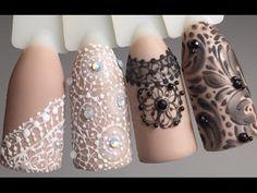 Вензеля на ногтях. Дизайн ногтей - YouTube