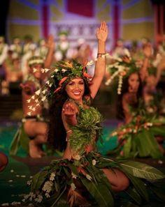 Tahitian Hula is one of my faves at any Polynesian Luau