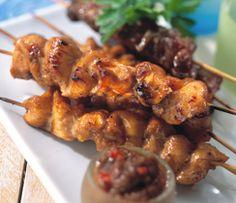 Greek Chicken Kebabs   Epicure.com