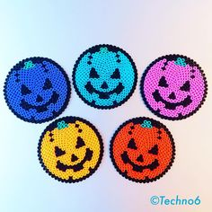 Halloween coasters perler beads by techno6