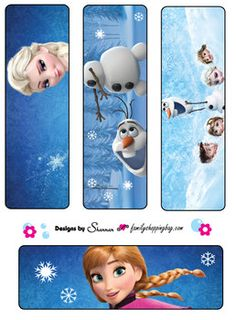 Bookmarks, Frozen, Bookmarks - Free Printable Ideas from Family Shoppingbag.com