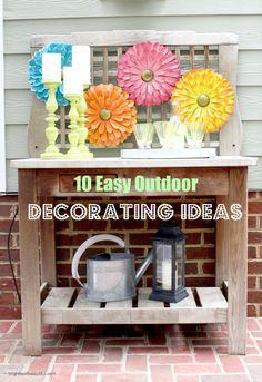 10 Easy Outdoor Decorating Ideas brightboldbeautiful.com