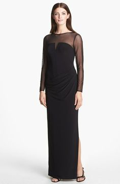 Lauren Ralph Lauren Illusion Yoke Jersey Gown available at #Nordstrom