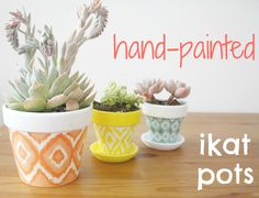 Hand painted mini planters