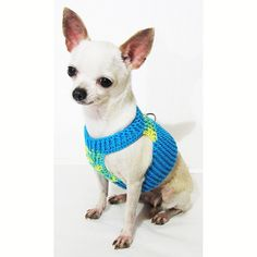 Soft Dog Harness XXS Choke Free Mesh Puppy Harnesses por myknitt