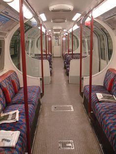 Inside a tube train