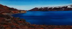 Kleifarvatn Lake.  Iceland. pastel drawing by Susan Singer 2016.  www.susansinger.com.  All rights reserved. Iceland In May, Iceland Pictures, Pastel Drawing, Singer, Drawings, Places, Water, Outdoor, Beautiful