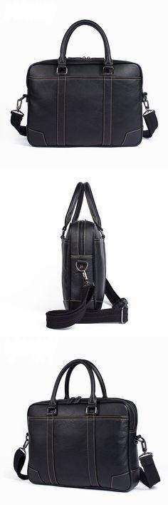 Handcrafted Full Grain Leather Briefcase, Messenger Bag for Men, Laptop Bag