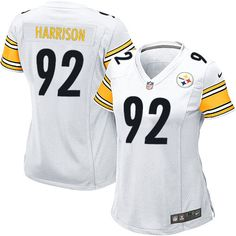 7b32609f252 Nike Limited Women s Pittsburgh Steelers  92 James Harrison White NFL Jersey   79.99 Browns Game