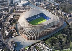 Image 1 of 9 from gallery of Herzog & de Meuron Release Updated Images of the New Chelsea FC Stadium in London. Photograph by Herzog & de Meuron Chelsea Fc, Chelsea Soccer, Club Chelsea, Chelsea News, Chelsea Blue, Soccer Stadium, Football Stadiums, Soccer Sports, Arquitetura