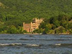 Bannerman's Island Castle  Hudson River near Newburgh NY