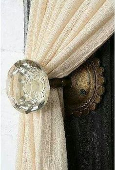 Door knob tie back for curtains!