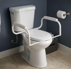 Handicap Toilet Rails #DisabledBathroomSafety >> See more accessible ...