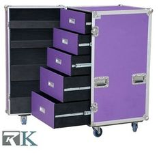 colorful travel Trunks   Travel Utility trunk with compartments Road Cases