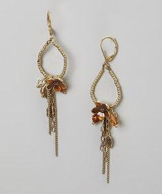 Take+a+look+at+the+Gold+&+Crystal+Drop+Earrings+on+#zulily+today!