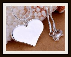 1 Solid Heart Valentine Gift Necklace 18 Long by EverydayHairbows, $2.99