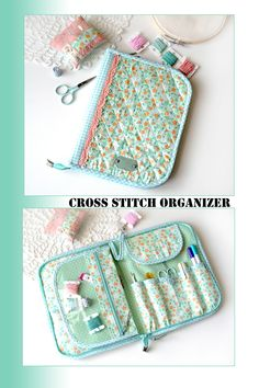Cross stitch, embroidery, sewing, quilting project bags by StudioNatalyK Sewing Case, Sewing Box, Hand Sewing, Sewing Tools, Sewing Kits, Sewing Hacks, Sewing Tutorials, Sewing Crafts, Sewing Projects