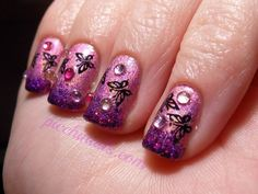 Nfu-Oh: #64 with Accessorize: Magic (glitter) stampes with Konad SP in black