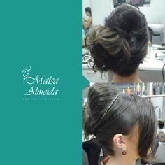 Apaixonada com esse penteado. Ótima sugestão de produção para o fim de semana! E aí garotas o que acharam?  #MaísaAlmeida #Coque #Penteado #Produção