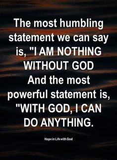 I Am Nothing, I Can Do Anything, Christian World, Most Powerful, God, Sayings, Heaven, Bible, Quotes