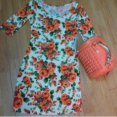 Floral Design Mini Dress Only