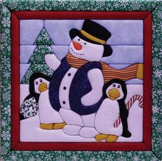 Winter Fun Quilt Magic Kit for sale online Mini Quilts, Baby Quilts, Christmas Sewing, Felt Christmas, Christmas Crafts, Christmas Ornaments, Applique Patterns, Applique Quilts, Quilt Patterns
