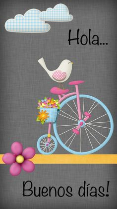 Phone Wallpaper - little bird rides a unicycle