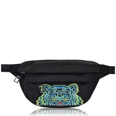 Get ready for the festival season with this Tiger Small Bumbag from Maharishi. Crafted with one main zipped compartment, two additional zipped pockets to the front and back and a grosgrain belt with a metallic buckled clip closure. Then finished with an embroidered Kenzo tiger to the front for some instant brand recognition, this piece is definitely not to be missed out on.    #streetstyle #menswear #bag Mens Designer Accessories, Kenzo, Grosgrain, Branding Design, Metallic, Menswear, Man Shop, Mens Fashion, Closure
