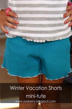 Zaaberry: Winter Vacation Shorts Mini-Tute