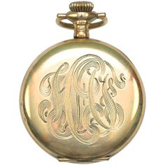 Fabulous Monogram Knickerbocker Gold Small Pocket Watch