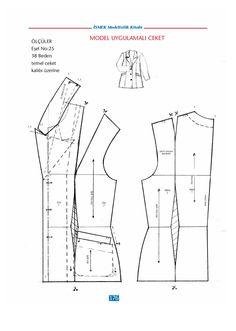 modelist kitapları: İSMEK modelistlik book - Jenkins K. Coat Patterns, Dress Sewing Patterns, Sewing Patterns Free, Clothing Patterns, Suit Pattern, Collar Pattern, Jacket Pattern, Sewing Collars, Modelista