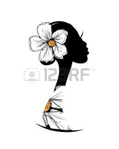 Silhouette De Femme ? La T?te De Votre Conception Clip Art Libres De Droits , Vecteurs Et Illustration. Image 20925986. Stencil Fabric, Fabric Painting, Female Art, Female Head, Afrique Art, African Art Paintings, Silhouette Clip Art, Black Artwork, Black Girl Art