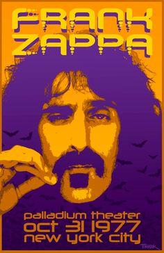 Frank Zappa Concert Poster, 1977