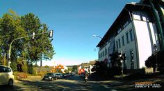 D: Stadt Alsfeld. Vogelsbergkreis. Fahrt durch den Ort. August 2016