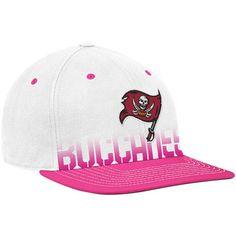 Reebok Tampa Bay Buccaneers White-Pink Breast Cancer Awareness Flat Brim  Flex Hat Tampa Bay c231da07cf06