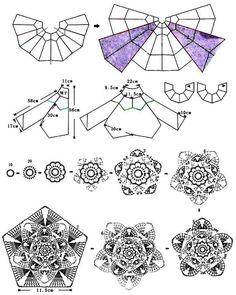 Crochet un gilet pétale et granny : je vous propose ce gilet original, vous trouverez toutes les explications et les diagrammes pour le réaliser