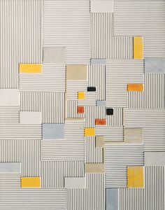 "design-is-fine: "" Adolf Richard Fleischmann, Relief painting Oil and corrugated board on canvas. "" design-is-fine: "" Adolf Richard Fleischmann, Relief painting Oil and corrugated board on canvas. Tile Patterns, Textures Patterns, Blanket Patterns, Weaving Patterns, Quilting Patterns, Embroidery Patterns, Quilt Modernen, Art Abstrait, Tile Design"