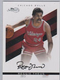 2008-09 Topps Signature Fascimile Black #RT Reggie Theus Chicago Bulls #D/289